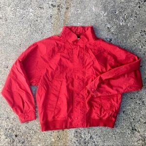 Vintage Red Bomber Jacket